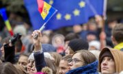 There were demonstrations against the new president in Chișinău on Monday. (© picture-alliance/dpa)