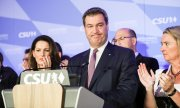 Bavarian Premier and CSU leading candidate Markus Söder after the vote. (© picture-alliance/dpa)