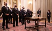 The new cabinet (© picture-alliance/dpa/Dimtiris Papamitsos)
