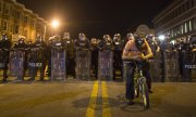 A one-week curfew has been declared in Baltimore in the wake of the violence. (© picture-alliance/dpa)