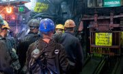 At the coal mine in Katowice. (© picture-alliance/dpa)