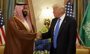 Meeting in May between Trump and Bin Salman. (© picture-alliance/dpa)