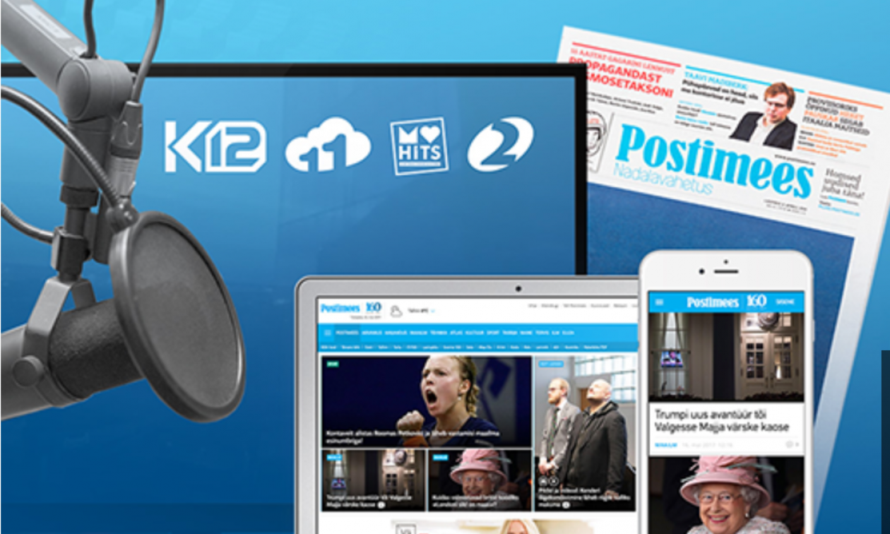 The website of the daily Postimees.