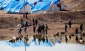 Camp in Syria where the families of IS fighters are being held in isolation. (© picture-alliance/dpa)