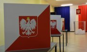 Polling station in the Polish city of Lubin. (© picture-alliance/dpa)