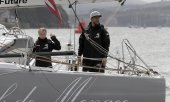Climate activist Greta Thunberg before casting off. (© picture-alliance/dpa)