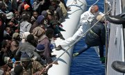 So far almost 1,800 people have drowned trying to cross the Mediterranean to Europe in 2015. (© picture-alliance/dpa)