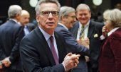 German Interior Minister Thomas de Maizière warned in Brussels that the EU could collapse. (© picture-alliance/dpa)