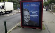 "A poster in Budapest saying: ""Let's not let Soros have the last laugh.""(© picture-alliance/dpa)"