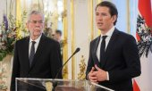 Austrian President Van der Bellen and Chancellor Kurz. (© picture-alliance/dpa)