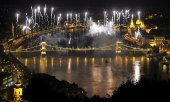 Le traditionnel feu d'artifice à Budapest, le 20 aout. (© picture-alliance/dpa)