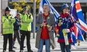 Brexit opponents demonstrating outside the Labour Party's Annual Conference. (© picture-alliance/dpa)