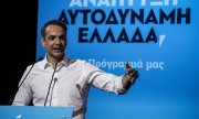 Kyriakos Mitsotakis during the presentation of his government programe. (© picture-alliance/dpa)