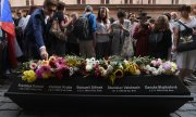 21 August, 2019: commemoration in Prague of the victims of the bloody oppression of demonstrators 50 years ago. (© picture-alliance/dpa)