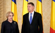 Romanian President Klaus Iohannis and his chief rival Viorica Dăncilă. (© picture-alliance/dpa)
