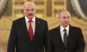 Lukashenko during a visit to Moscow in 2015. (© picture-alliance/dpa)