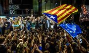 The Catalan government billed the regional election as a referendum on independence from Spain. (© picture-alliance/dpa)