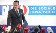 Heinz-Christian Strache held a press conference on Wednesday. (© picture-alliance/dpa)