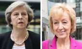 Theresa May (links) und Andrea Leadsome (rechts) (© picture-alliance/dpa)