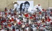 Hommage rendu à Ján Kuciak, journaliste slovaque assassiné. (© picture-alliance/dpa)