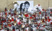 Commemorating the murdered Slovakian journalist Ján Kuciak. (© picture-alliance/dpa)