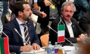 Salvini and Asselborn at a meeting on July 12 in Innsbruck. (© picture-alliance/dpa)