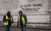 Un graffiti sur l'Arc de triomphe, à Paris. (© picture-alliance/dpa)