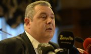 Panos Kammenos explaining his decision to resign. (© picture-alliance/dpa)