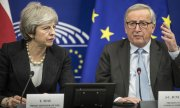 Theresa May and EU Commission President Jean-Claude Juncker. (© picture-alliance/dpa)