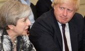 Theresa May and Boris Johnson in 2017.(© picture-alliance/dpa)