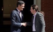 Pedro Sánchez (links) mit Podemos-Chef Pablo Iglesias. (© picture-alliance/dpa)
