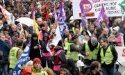 Protests against the reform on December 12 in Rennes. (© picture-alliance/dpa)