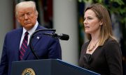 Amy Coney Barrett and Donald Trump at the nomination ceremony in Washington, D.C. on September 26th. (© picture-alliance/dpa)