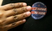 """I voted"": Because many people voted by mail, these stickers were even more popular this year than in previous years. (© picture-alliance/dpa)"
