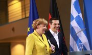 Merkel stressed that the Euro Group, and not Germany, will decide on bailout payments for Greece. (© picture-alliance/dpa)