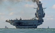 Aircraft carrier Admiral Kuznetsov on 21 October in the English Channel. (© picture-alliance/dpa)