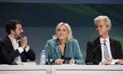 Lega Nord leader Matteo Salvini, Marine Le Pen and Geert Wilders. (© picture-alliance/dpa)