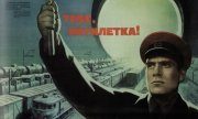 "A poster from Soviet times reads ""Long live the five-year plan"". (© picture-alliance/dpa)"