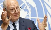The UN Special Envoy for Syria, Staffan de Mistura, on Monday in Geneva. (© picture-alliance/dpa)