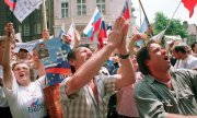 Slovakians celebrating their country's independence in 1992. (© picture-alliance/dpa)