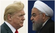Donald Trump (left) and Iranian President Hassan Rouhani. (© picture-alliance/dpa)