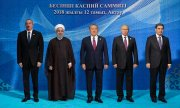 The leaders of the five states that border the Caspian Sea. (© picture-alliance/dpa)