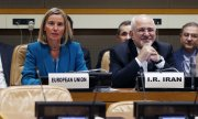 EU Foreign Affairs Representative Mogherini and Iranian Foreign Minister Zarif(© picture-alliance/dpa)