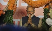 Prime Minister Modi in New Delhi after his election victory. (© picture-alliance/dpa)
