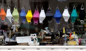 Masks in a shop window in Bonn, Germany. (© picture-alliance/dpa)