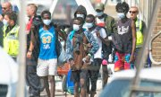 A group of migrants in Dover on 12 August. (© picture-alliance/dpa)