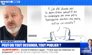 A screenshot from a BFMTV interview with Xavier Gorce, retrieved on 26.1.2020 (https://www.bfmtv.com/societe/xavier-gorce-s-explique-apres-la-polemique-sur-son-dessin-consacre-a-l-inceste_VN-202101210152.html).
