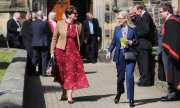 Arlene Foster, the First Minister of Northern Ireland (left), after a commemorative service at St Patrick's Church in Coleraine on May 2. (© picture-alliance/Niall Carson)