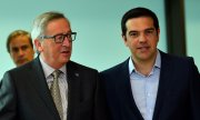 Tsipras met with EU Commission President Jean-Claude Juncker in Brussels on Wednesday evening. (© picture-alliance/dpa)