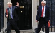 Boris Johnson (left) and David Davis last week at Number 10 Downing Street. (© picture-alliance/dpa)